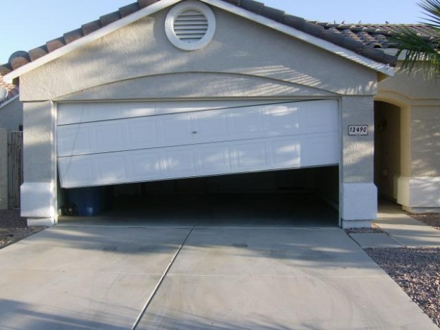 garage door off track 2